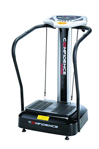 confidence fitness slim vibration platform fitness machine black
