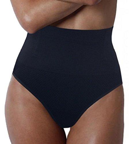 SAYFUT Women's Tummy Control Panties Thong High Waist Brief ...