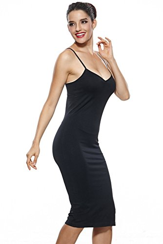 Khaya Women S Seamless Long Slip Dress Spaghetti Strap